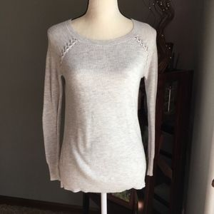 American Eagle Braided Shoulder Sweater